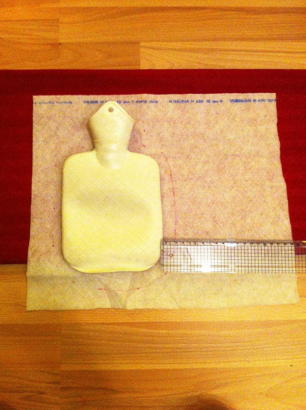 Wärmflaschenbezug selber nähen - kostenlose Anleitung