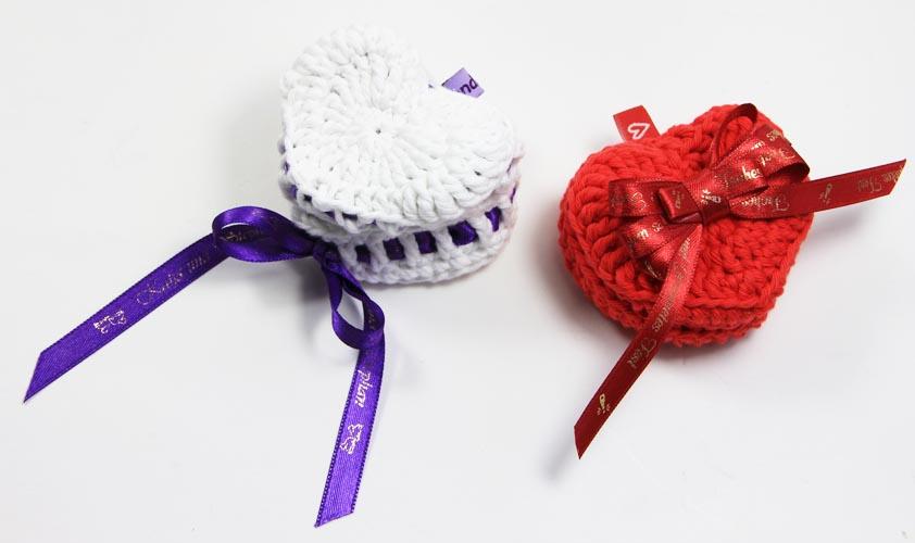 Zum Valentinstag Herzschatulle oder Herzen häkeln