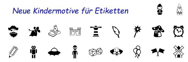 Etiketten symbole