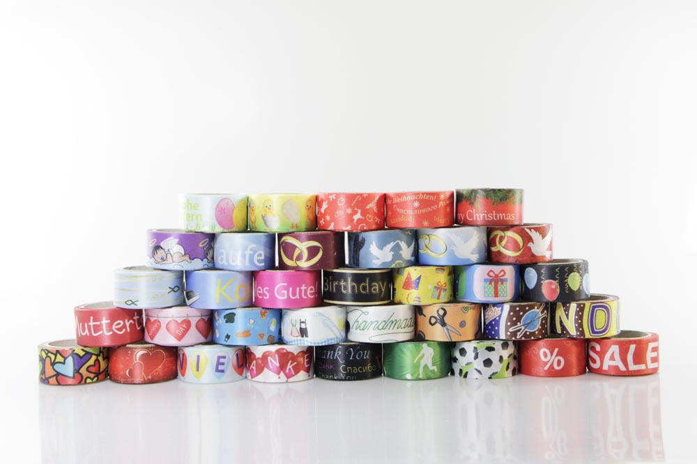 Bedruckte Geschenkbänder zu jedem Anlass