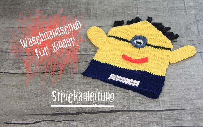 waschlappen_stricken-gratis-strickanleitung-kinder-waschhandschuh-im-minion-style