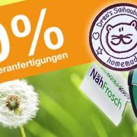 10% auf Satinbänder oder Textiletiketten mit Logo