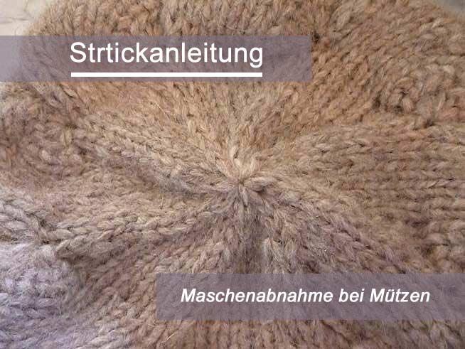 Kostenlose Anleitung: Maschenabnahme bei Mützen | Der namensbaender ...
