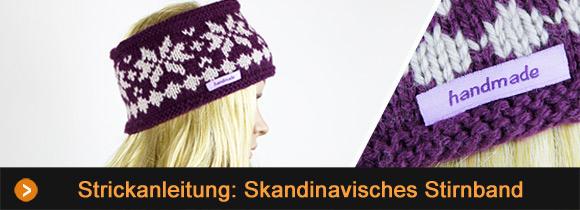 Kostenlose Anleitung Stirnband Mit Skandinavischem Muster Stricken