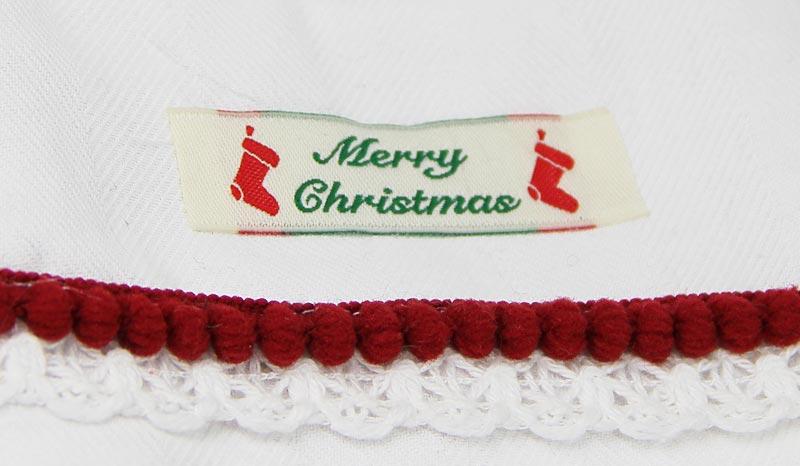 Webetikett-aufnaehen-merry-christmas-Nikolaussocke-nikolausstiefel-naehen