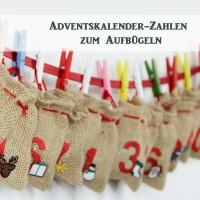 Neu: Adventskalender-Zahlen zum Aufbügeln