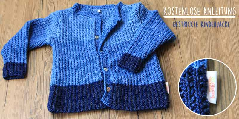 kinderjacke stricken