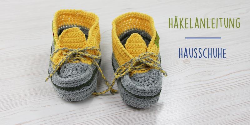 Gratis-Anleitung: Schuhe für Zuhause häkeln | Der namensbaender.de ...