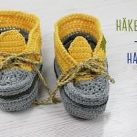 Gratis-Anleitung: Schuhe für Zuhause häkeln