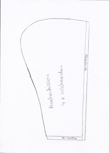 schnittmuster Leseknochen nähen