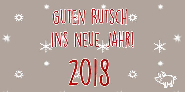 Wir wünschen allen einen guten Rutsch ins Jahr 2018 | Der ...