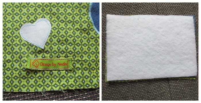 Textiletikett aufnähen