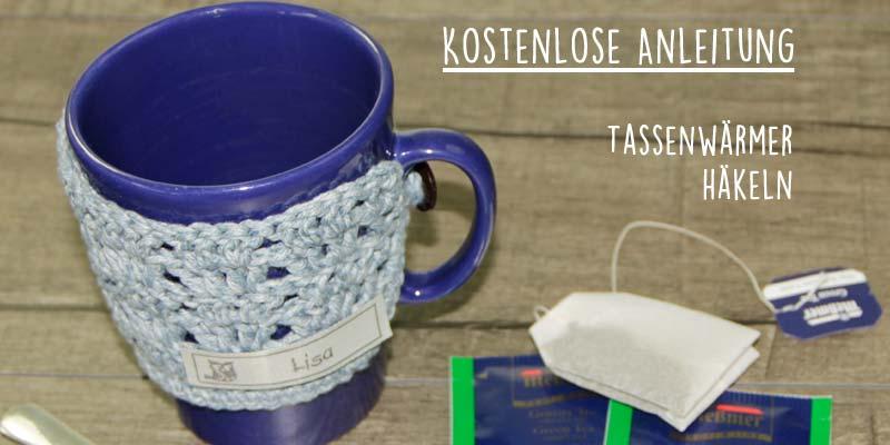 Kostenlose Anleitung Gehäkelter Tassenwärmer In Blau Der