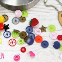 NEU im Shop: Druckknöpfe, Pins, Metallösen und Werkzeuge
