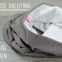 Kostenlose Anleitung: Loop Schal aus Fleece nähen