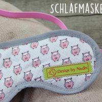 Schlafmaske mit eigenem Webetikett selbst nähen