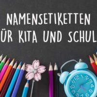Die 5 beliebtesten Namensetiketten Kita / Namensetiketten Schule von namensbaender.de