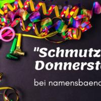 Fasching bei namensbaender.de