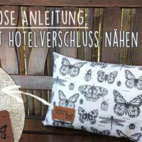 Kostenlose Anleitung: Kissen mit Hotelverschluss nähen