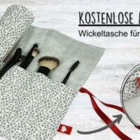 Kostenlose Anleitung: Wickeltasche für Kosmetik nähen