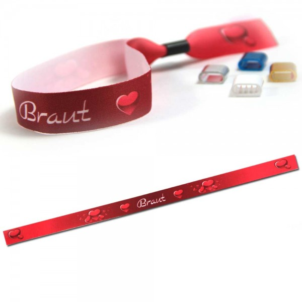 "ruban bracelet de soirée ""Braut"" design 3"