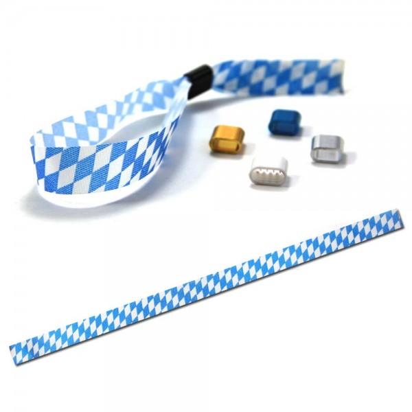 """National- oder Vereinsarmband blau-weiß """"Bayern"""", Eintrittsband"""