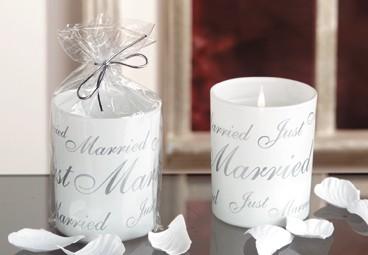 "Kerzenglas ""Just Married"" - Angebot, Hochzeitsdeko"