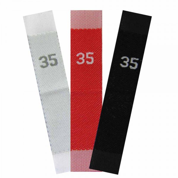 woven size labels - number 35