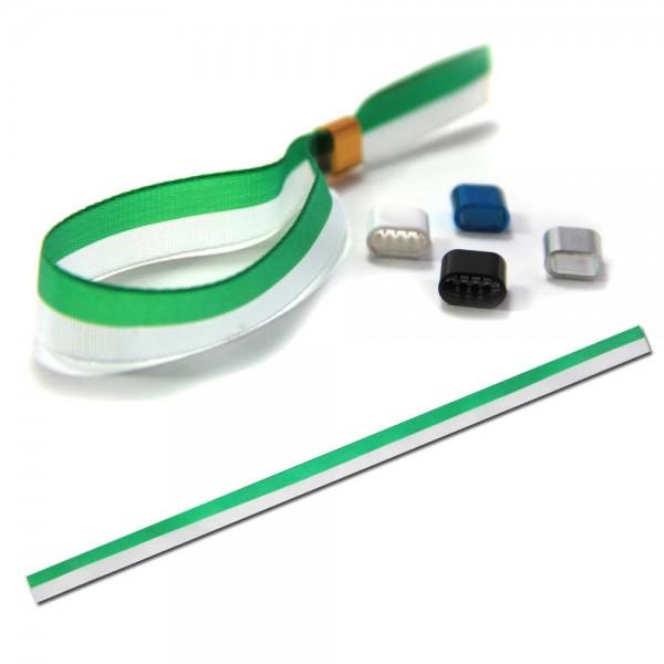 National- oder Vereinsarmband grün-weiß, Eintrittsband