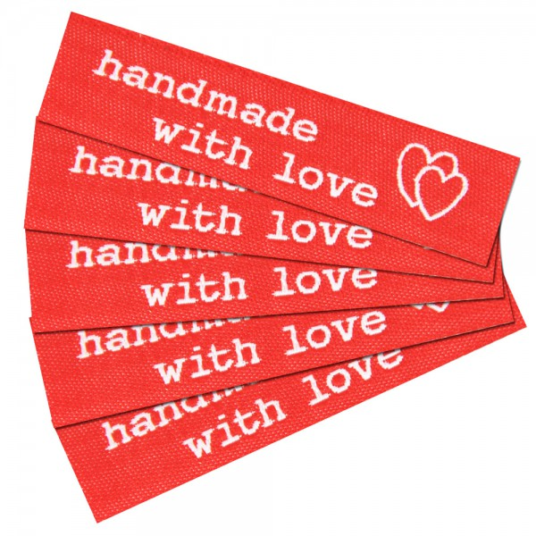 "Fix&Fertig - Label with design ""handmade with love"" 1"
