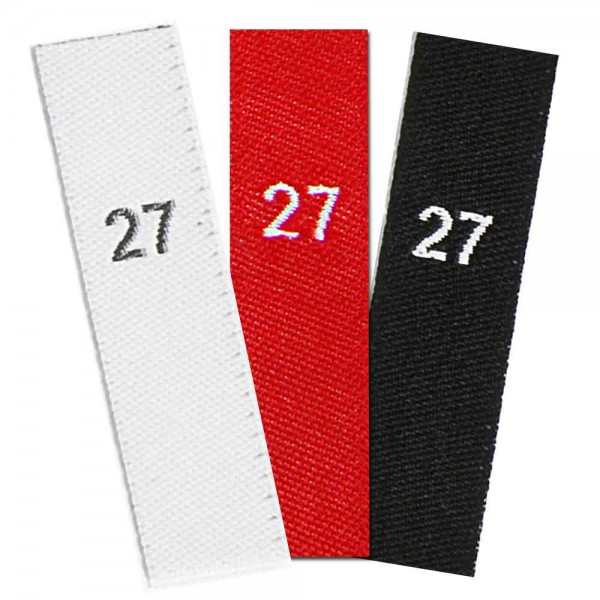 woven size labels - number 27