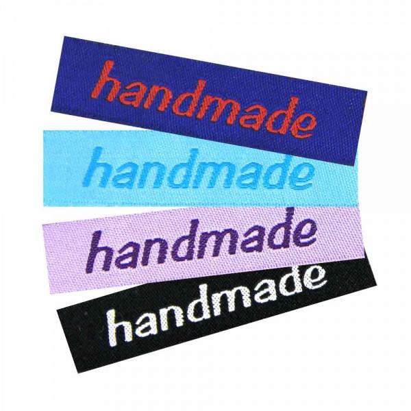 """Textiletiketten """"handmade"""" klein, Webetiketten"""