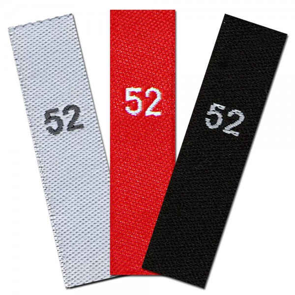 woven size labels - size 52