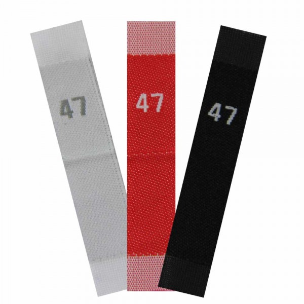 woven size labels - number 47