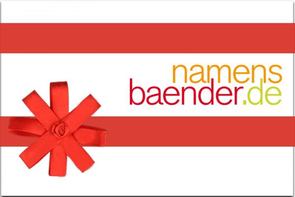Geschenkgutschein von namensbaender.de