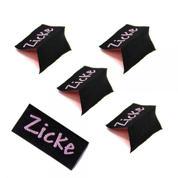 "Textiletiketten ""Zicke"", Webetiketten"