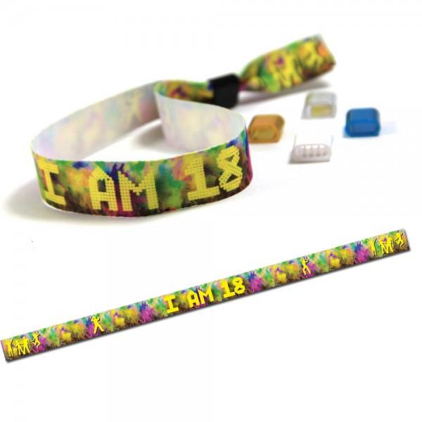 """Partyarmband """"I am 18"""" Design 1, Eintrittsband"""