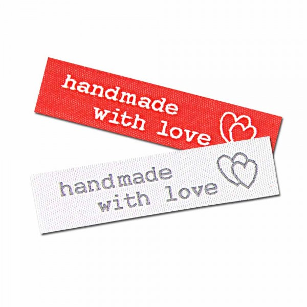 iron-on labels handmade with love