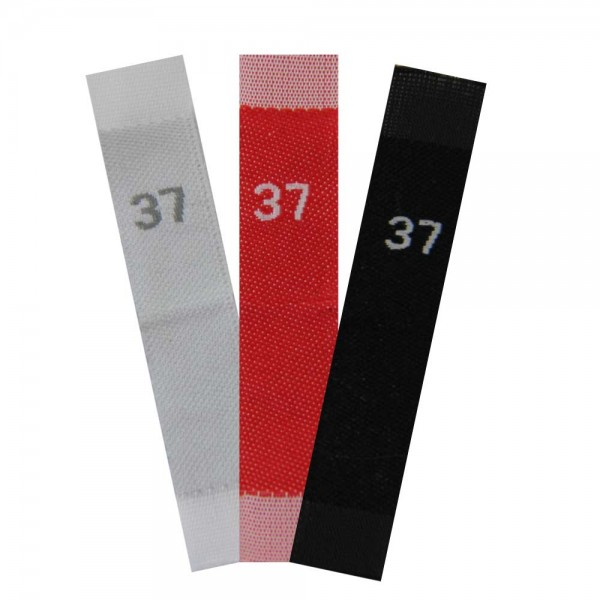 woven size labels - number 37