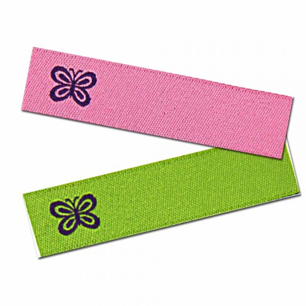 """Bügeletiketten zum Beschriften """"Schmetterling"""", Textiletiketten"""