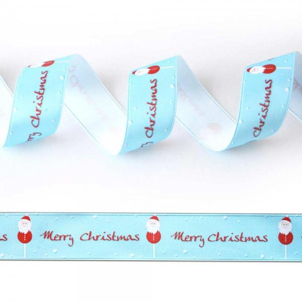 Satin-Geschenkband Merry Christmas 3, Dekoband
