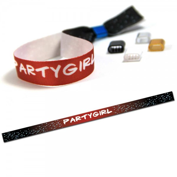 "Party Wristband ""Partygirl"" Design 4"