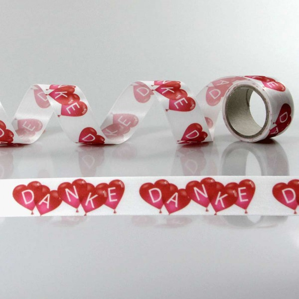 Gift Ribbon with design Danke