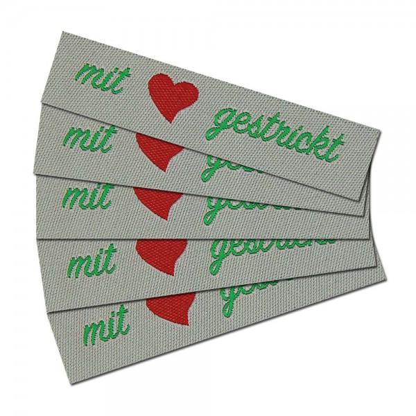 """Fix&Fertig - Label with design """"mit Liebe gestrickt"""""""