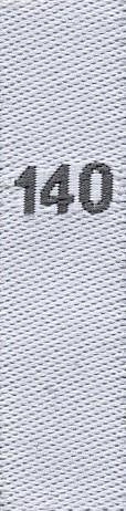 Gewebte Größenetiketten für Kinder 140