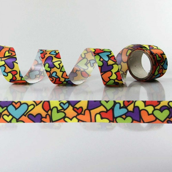 Gift Ribbon with design Mosaic Hearts