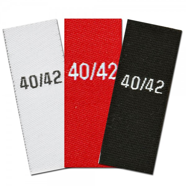woven size labels - size 40/42