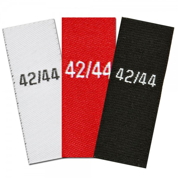 woven size labels - size 42/44