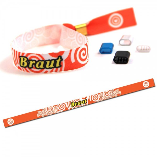 "Party Wristband ""Braut"" Design 2"