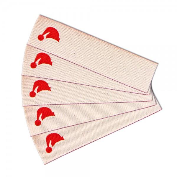 Textiletikett zum Beschriften Mütze, Webetikett